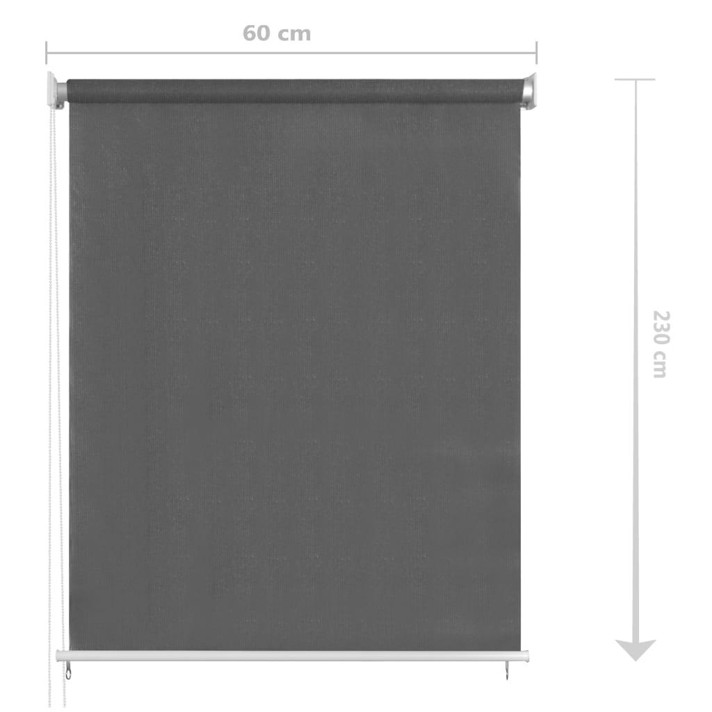 vidaXL Rolgordijn voor buiten 60x230 cm antracietkleurig