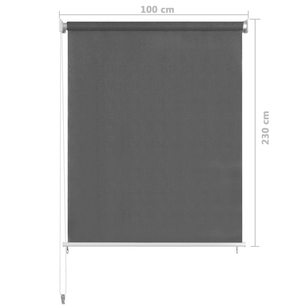 vidaXL Rolgordijn voor buiten 100x230 cm antracietkleurig