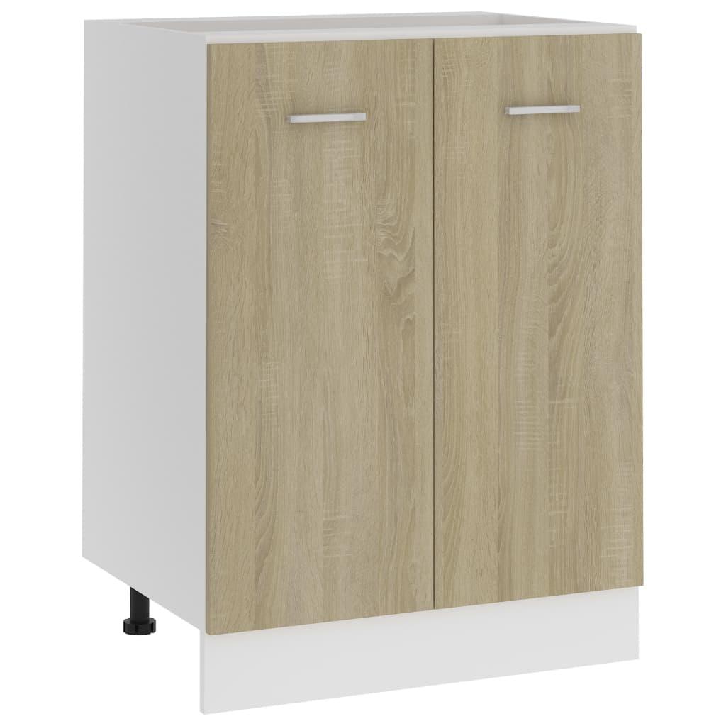 Spodní skříňka dub sonoma 60 x 46 x 81,5 cm dřevotříska
