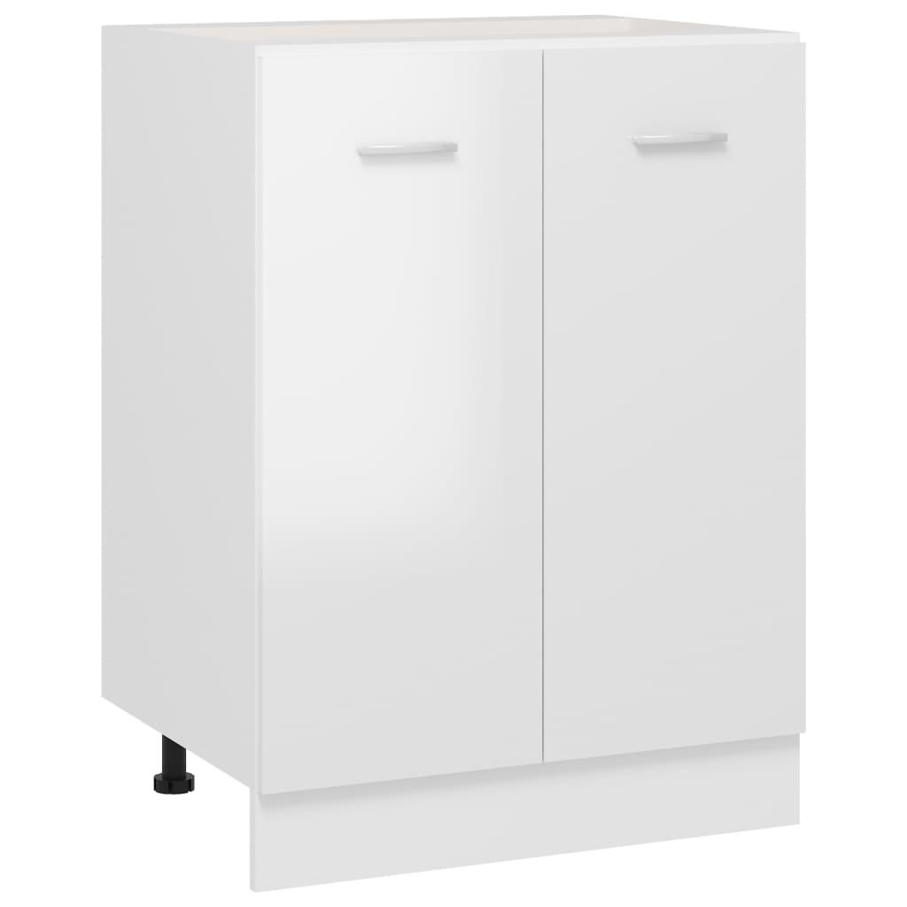 vidaXL Dulap inferior, alb extralucios, 60 x 46 x 81,5 cm, PAL poza 2021 vidaXL
