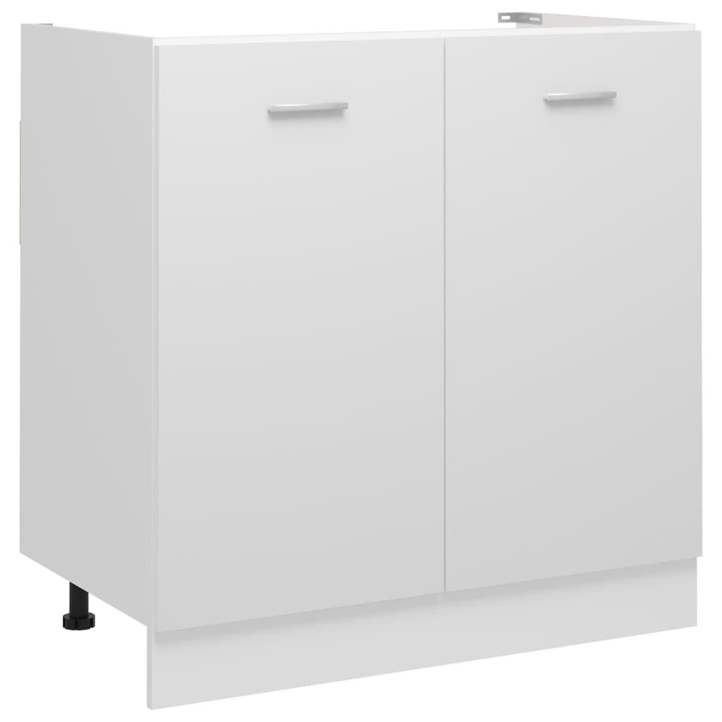 vidaXL Dulap inferior de chiuvetă, alb, 80 x 46 x 81,5 cm, PAL vidaxl.ro