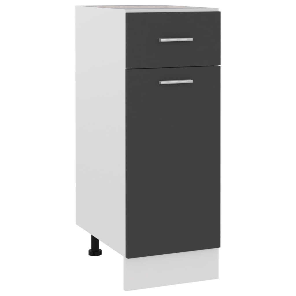 vidaXL Dulap inferior cu sertar, gri, 30 x 46 x 81,5 cm, PAL poza 2021 vidaXL