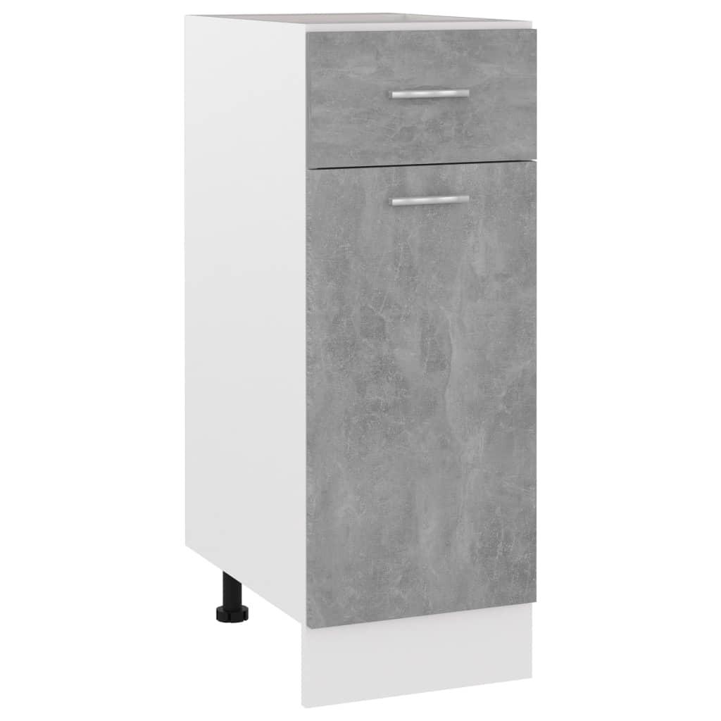 vidaXL Dulap inferior cu sertar, gri beton, 30 x 46 x 81,5 cm, PAL poza 2021 vidaXL