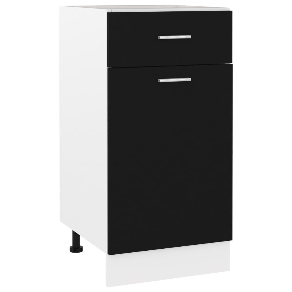vidaXL Dulap inferior cu sertar, negru, 40 x 46 x 81,5 cm, PAL vidaxl.ro