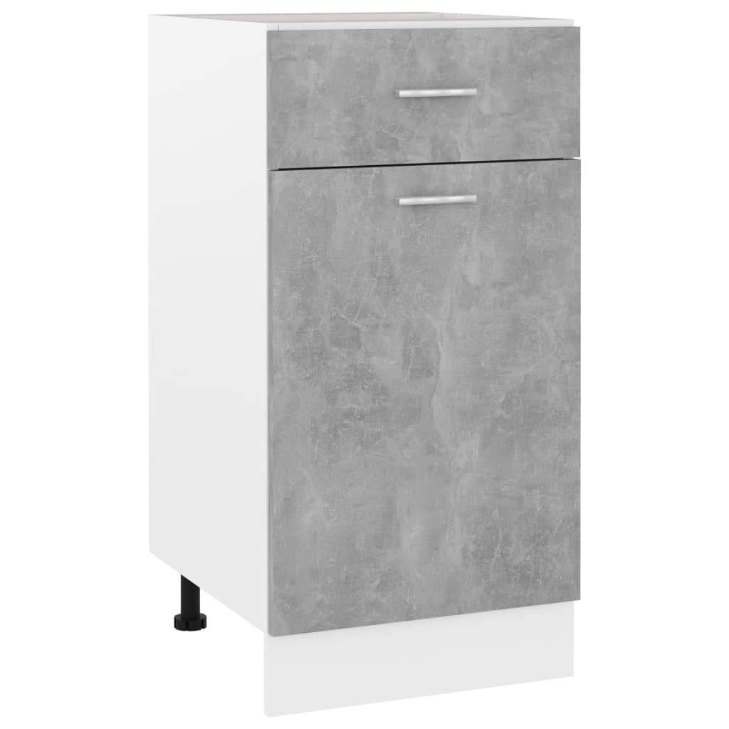 vidaXL Dulap inferior cu sertar, gri beton, 40 x 46 x 81,5 cm, PAL vidaxl.ro