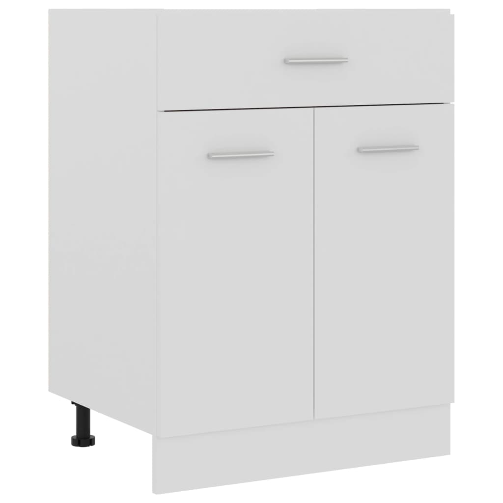 vidaXL Dulap inferior cu sertar, alb, 60 x 46 x 81,5 cm, PAL vidaxl.ro