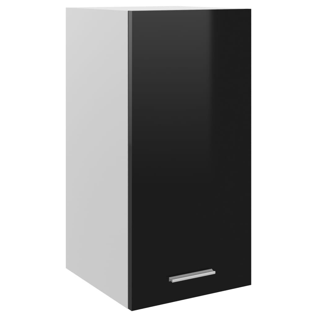 Horní skříňka černá vysoký lesk 29,5 x 31 x 60 cm dřevotříska