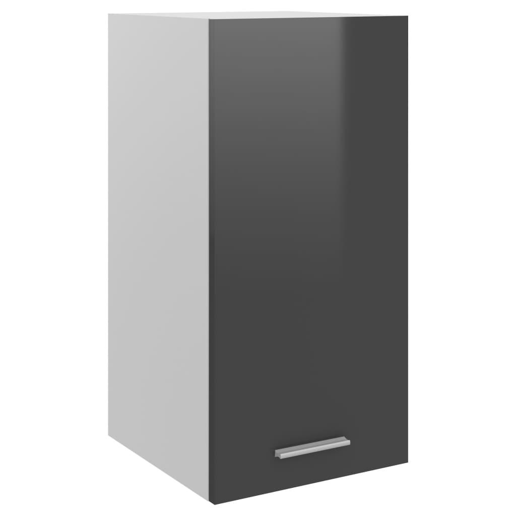 Horní skříňka šedá vysoký lesk 29,5 x 31 x 60 cm dřevotříska
