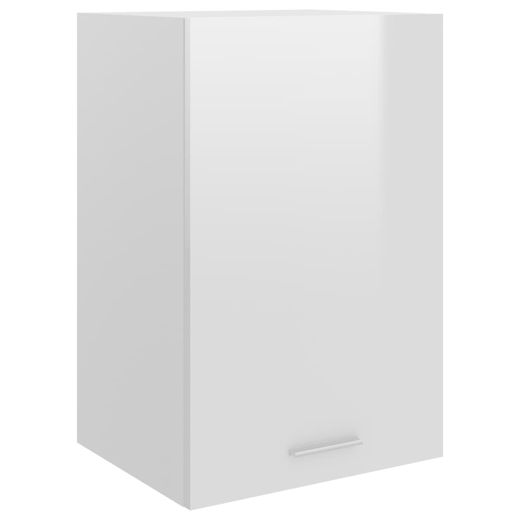 vidaXL Dulap suspendat, alb extralucios, 39,5 x 31 x 60 cm, PAL poza 2021 vidaXL