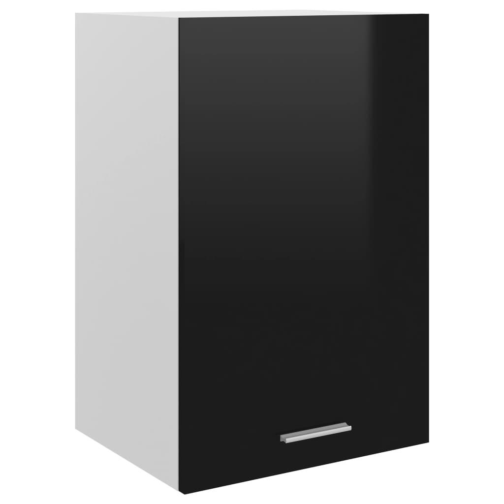 vidaXL Dulap suspendat, negru extralucios, 39,5 x 31 x 60 cm, PAL poza 2021 vidaXL