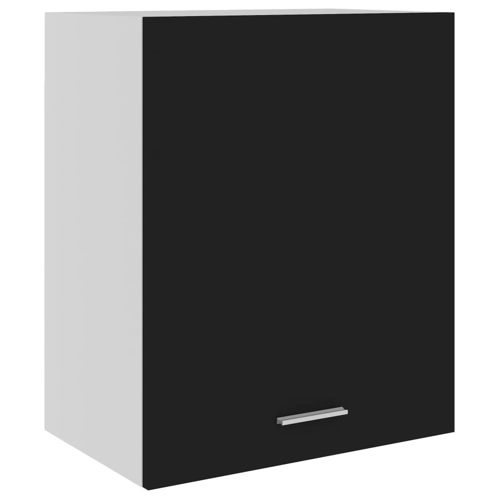 vidaXL Dulap suspendat, negru, 50 x 31 x 60 cm, PAL poza 2021 vidaXL