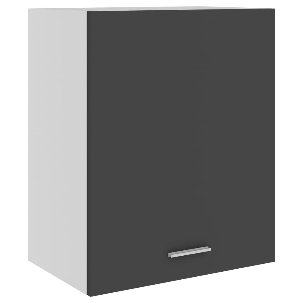 Horní skříňka šedá 50 x 31 x 60 cm dřevotříska