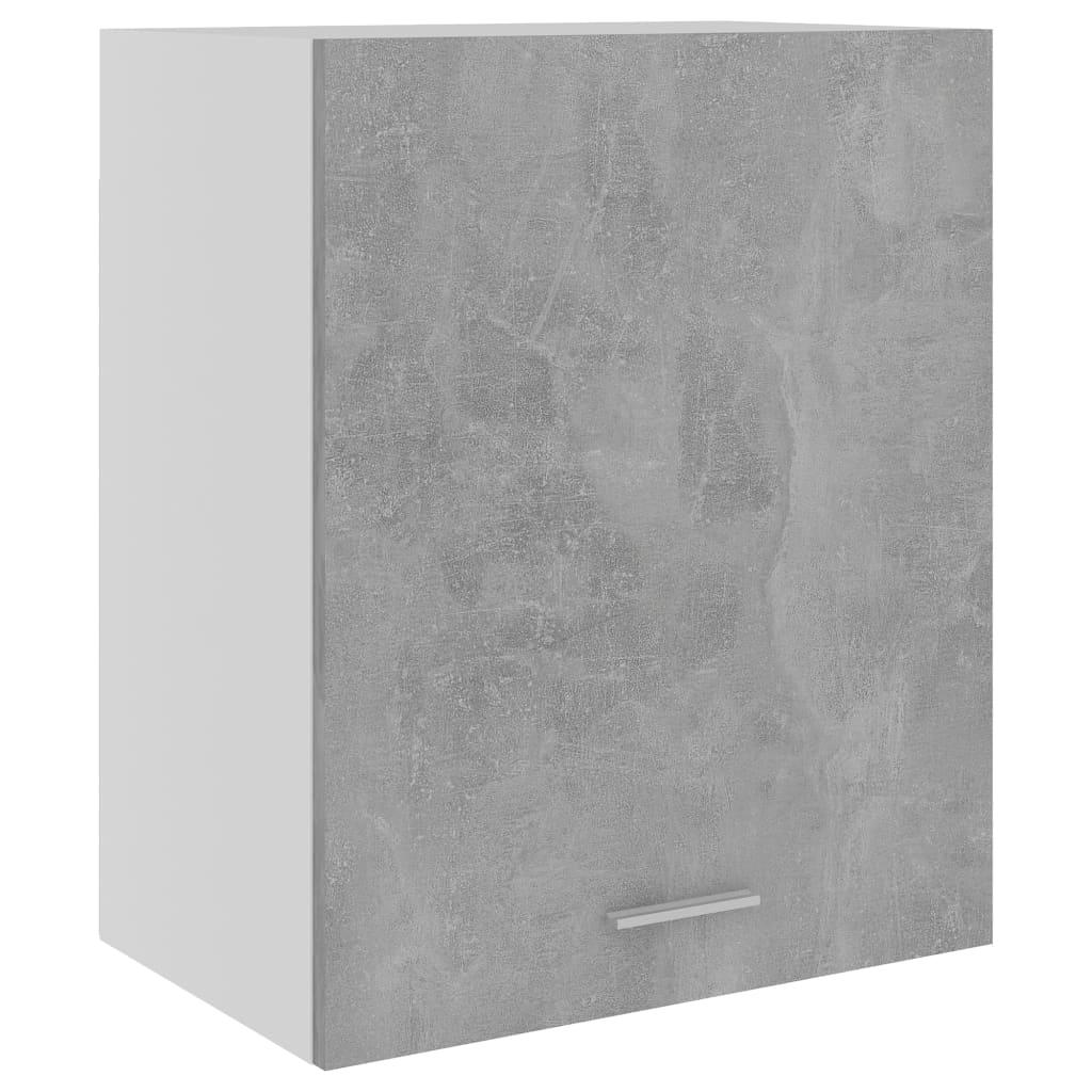 Horní skříňka betonově šedá 50 x 31 x 60 cm dřevotříska