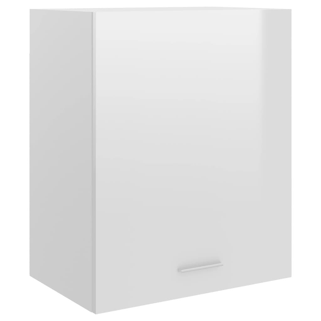 Horní skříňka bílá vysoký lesk 50 x 31 x 60 cm dřevotříska