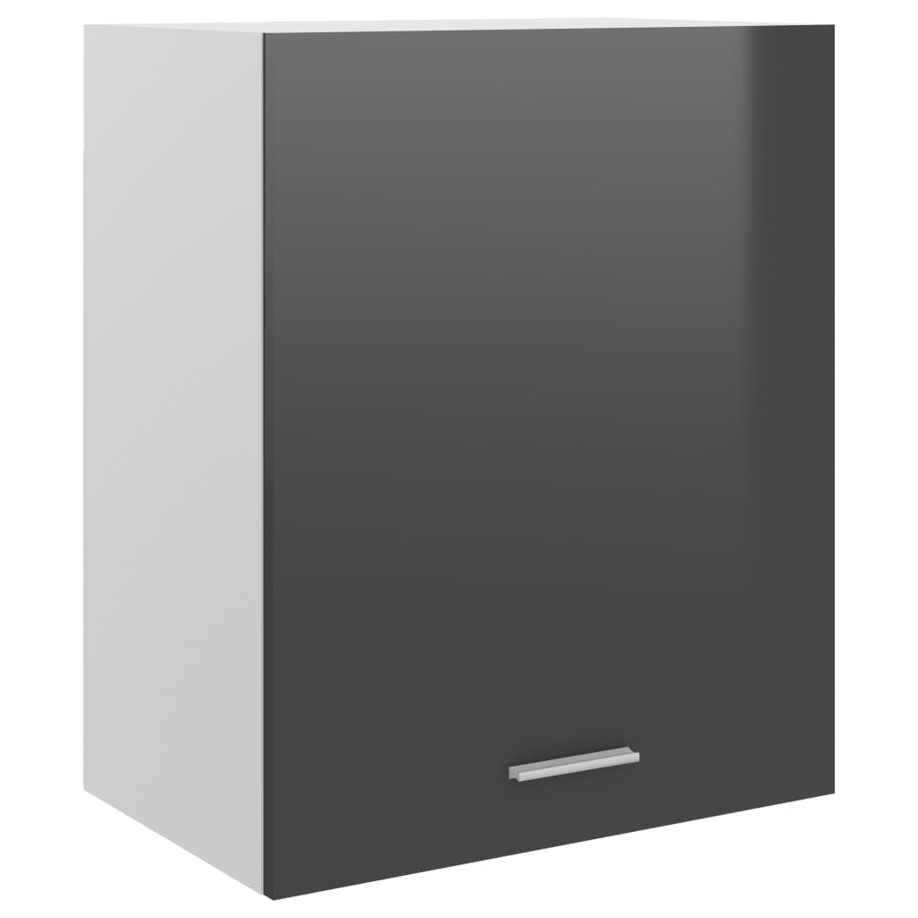 Horní skříňka šedá vysoký lesk 50 x 31 x 60 cm dřevotříska