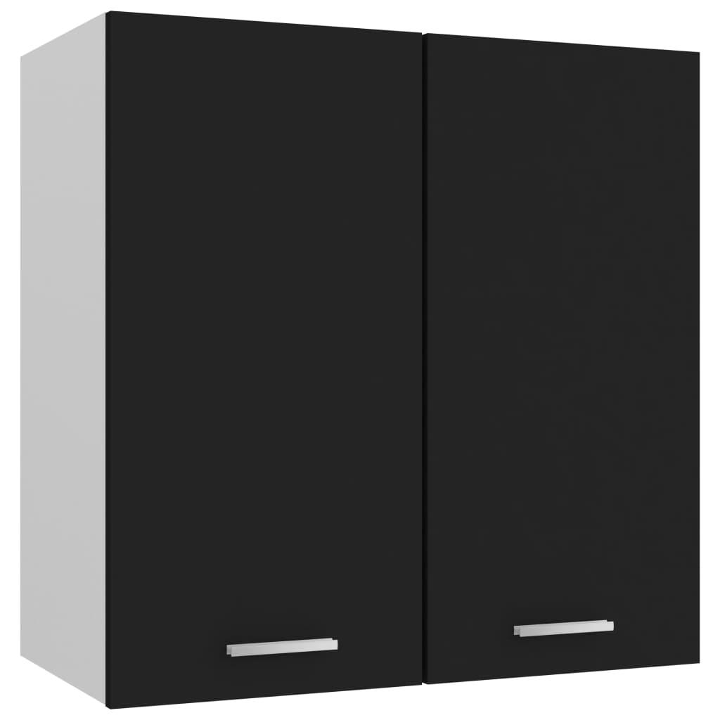vidaXL Dulap suspendat, negru, 60 x 31 x 60 cm, PAL vidaxl.ro