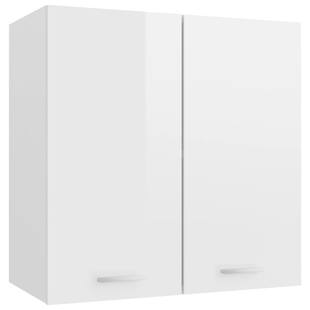 vidaXL Dulap suspendat, alb extralucios, 60 x 31 x 60 cm, PAL vidaxl.ro
