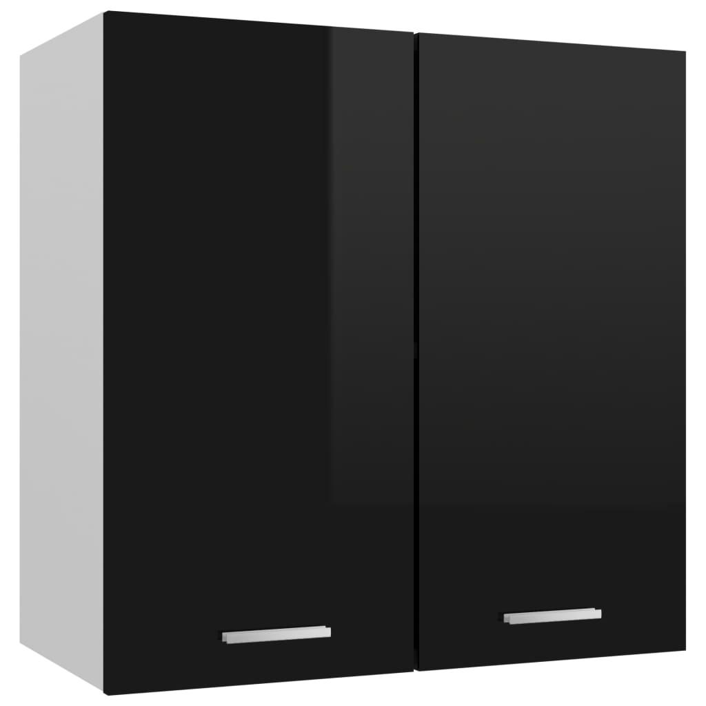 vidaXL Dulap suspendat, negru extralucios, 60 x 31 x 60 cm, PAL poza 2021 vidaXL