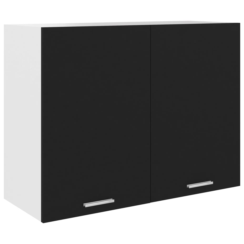 vidaXL Dulap suspendat, negru, 80 x 31 x 60 cm, PAL vidaxl.ro