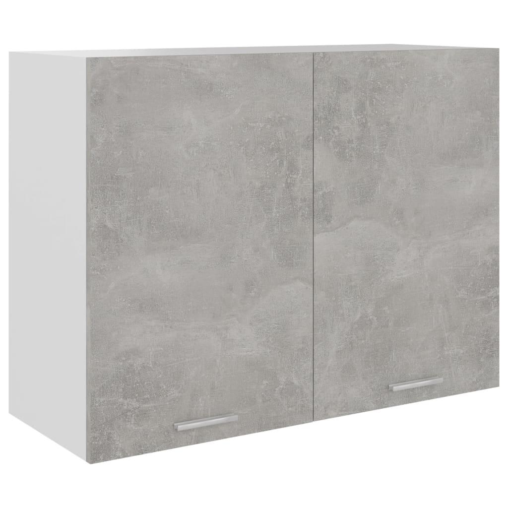 vidaXL Dulap suspendat, gri beton, 80 x 31 x 60 cm, PAL poza 2021 vidaXL