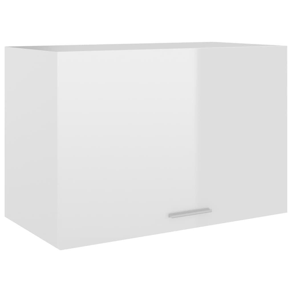 Horní skříňka bílá vysoký lesk 60 x 31 x 40 cm dřevotříska