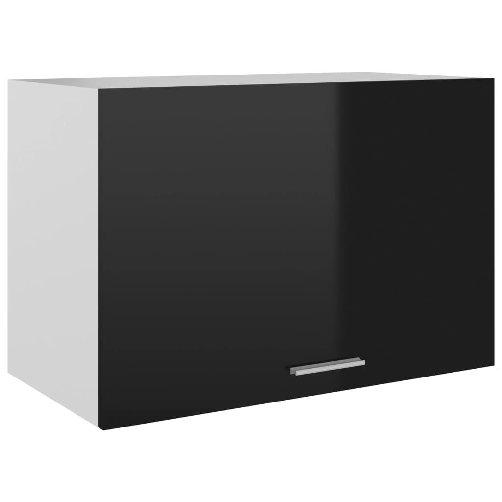 vidaXL Dulap suspendat, negru extralucios, 60 x 31 x 40 cm, PAL vidaxl.ro