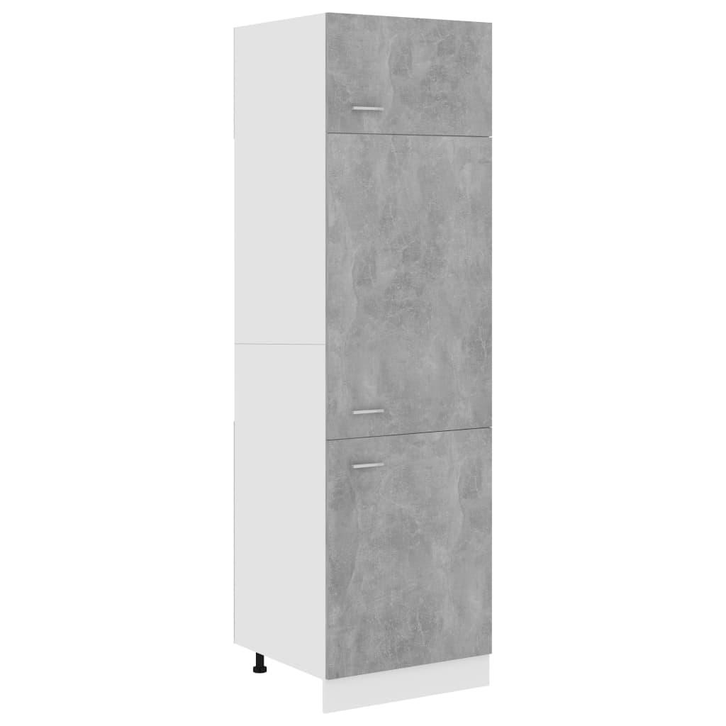 vidaXL Dulap pentru frigider, gri beton, 60 x 57 x 207 cm, PAL poza 2021 vidaXL