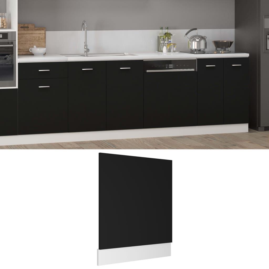 vidaXL Panou mașină de spălat vase, negru, 59,5 x 3 x 67 cm, PAL poza 2021 vidaXL