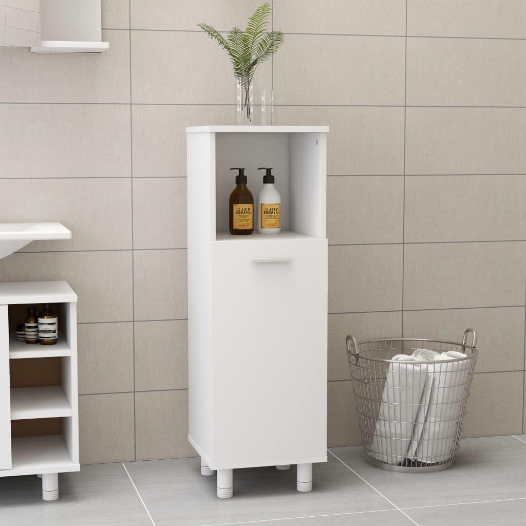 Koupelnová skříňka bílá 30 x 30 x 95 cm dřevotříska