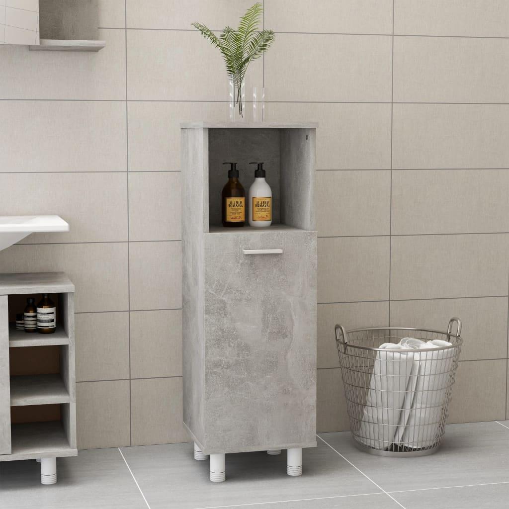 Koupelnová skříňka betonově šedá 30 x 30 x 95 cm dřevotříska