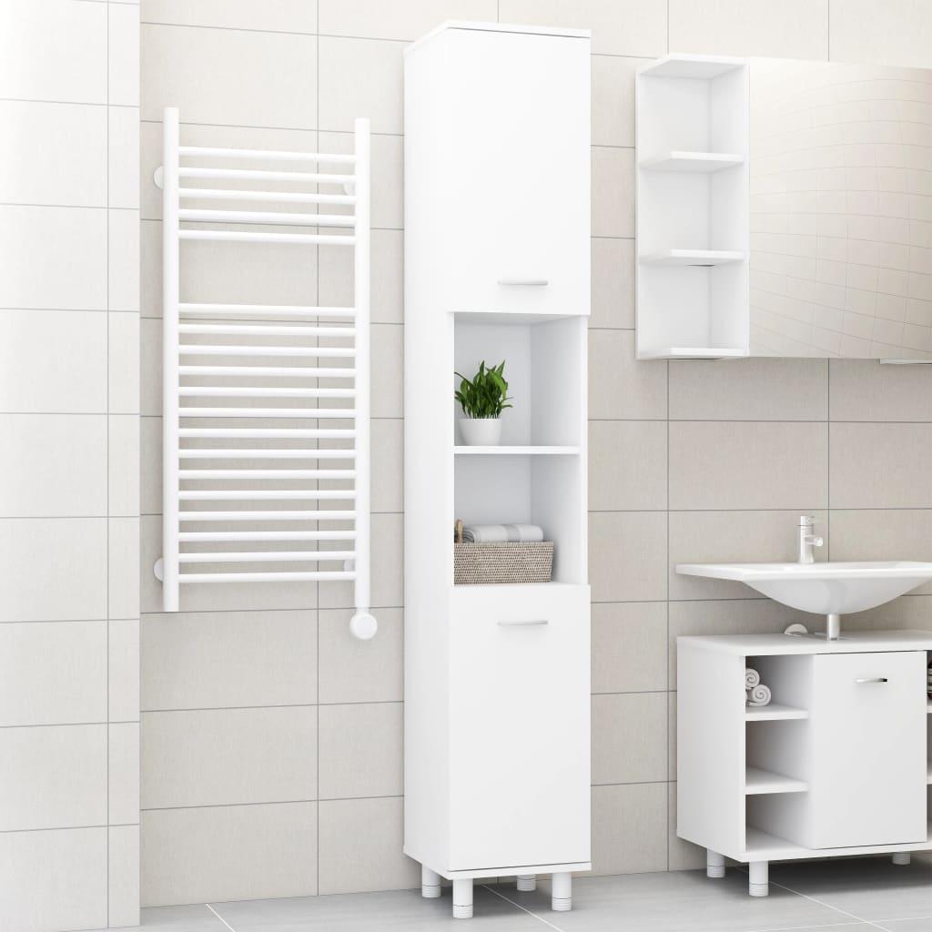 vidaXL Dulap de baie, alb, 30 x 30 x 179 cm, PAL imagine vidaxl.ro