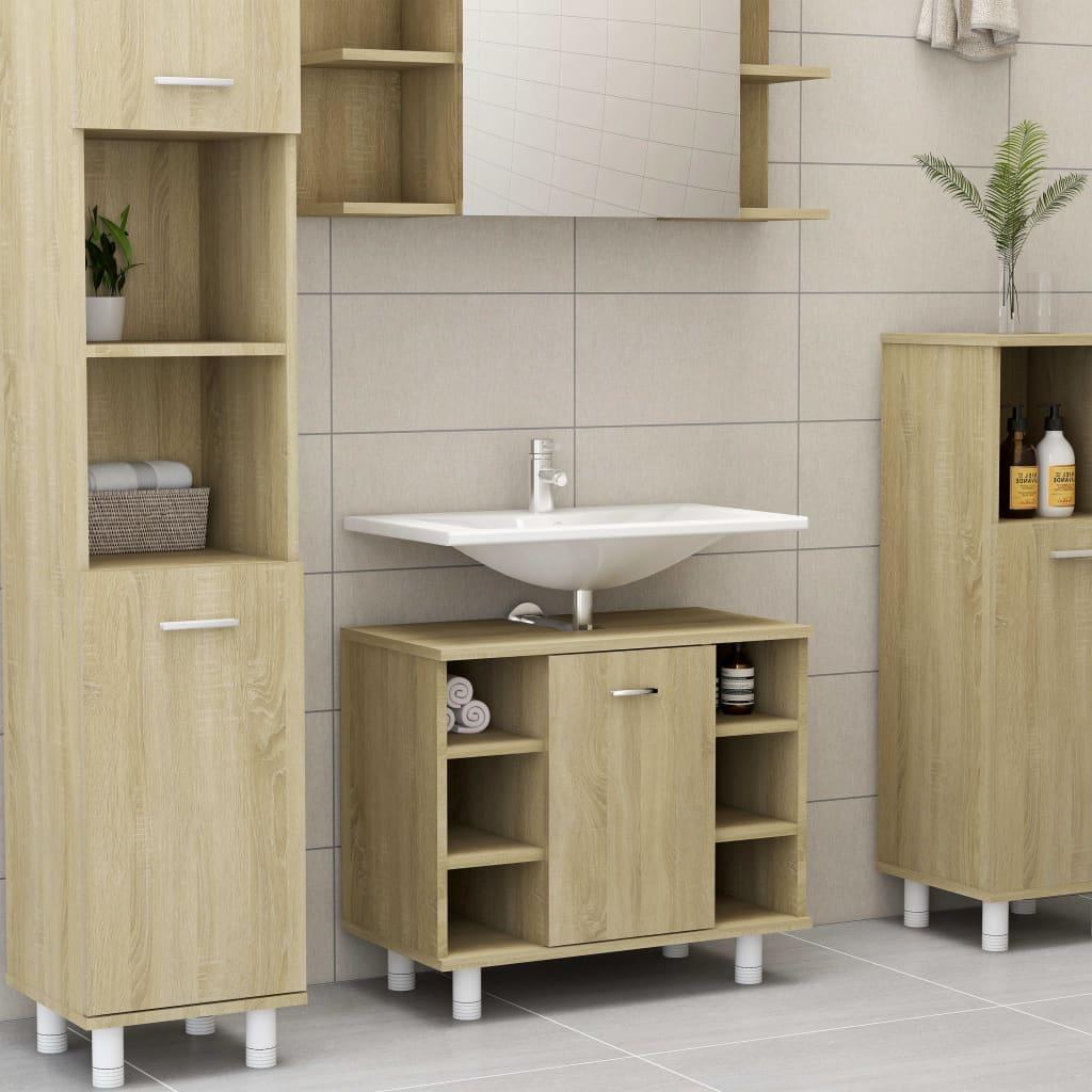 Koupelnová skříňka dub sonoma 60 x 32 x 53,5 cm dřevotříska