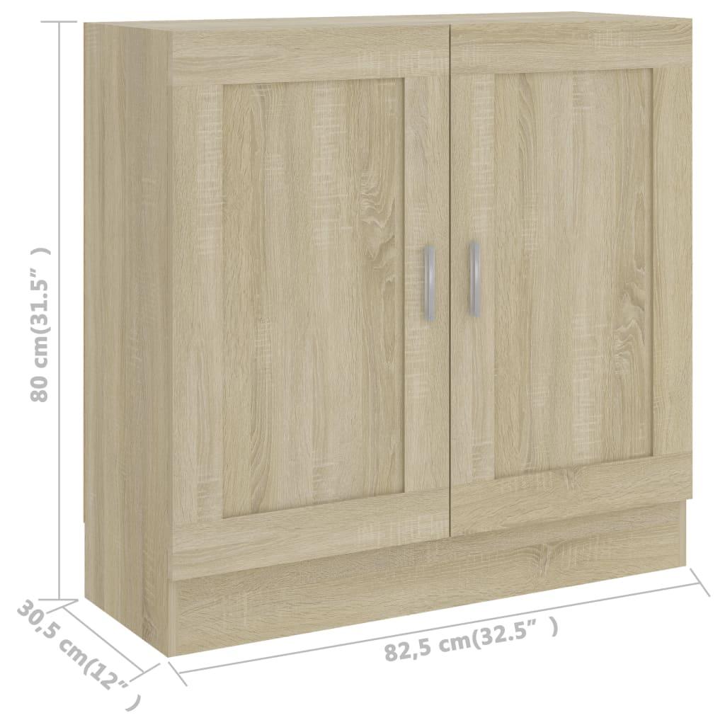 vidaXL Boekenkast 82,5x30,5x80 cm spaanplaat sonoma eikenkleurig