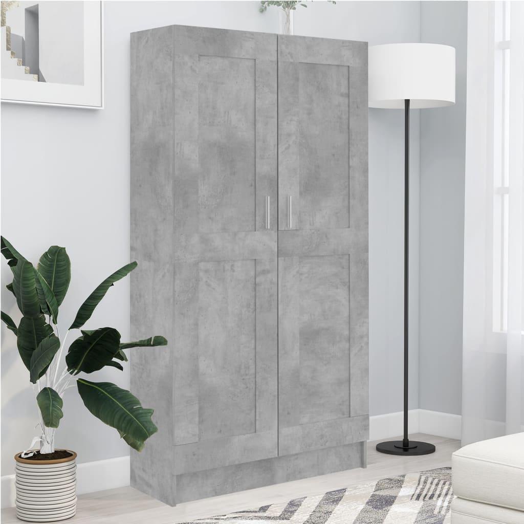 Boekenkast 82,5x30,5x150 cm spaanplaat betongrijs