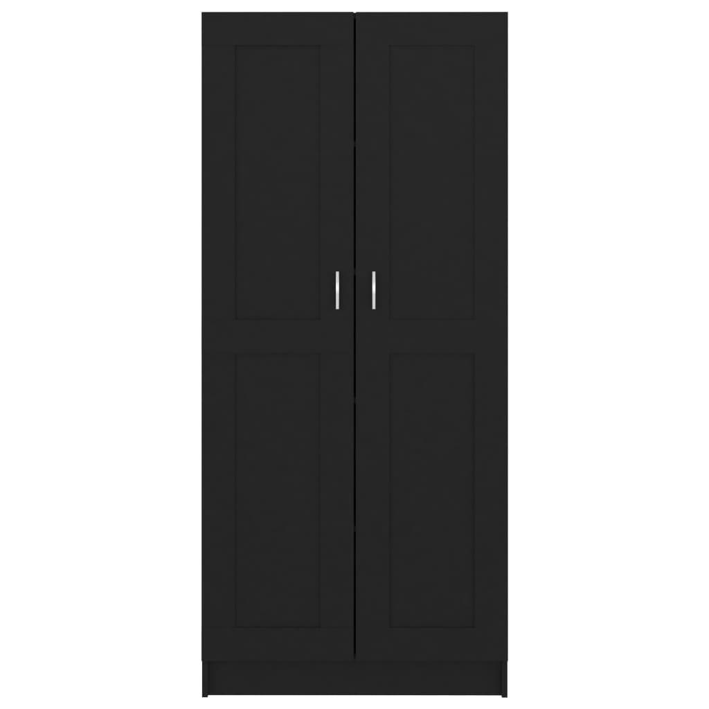 vidaXL Boekenkast 82,5x30,5x185,5 cm spaanplaat zwart