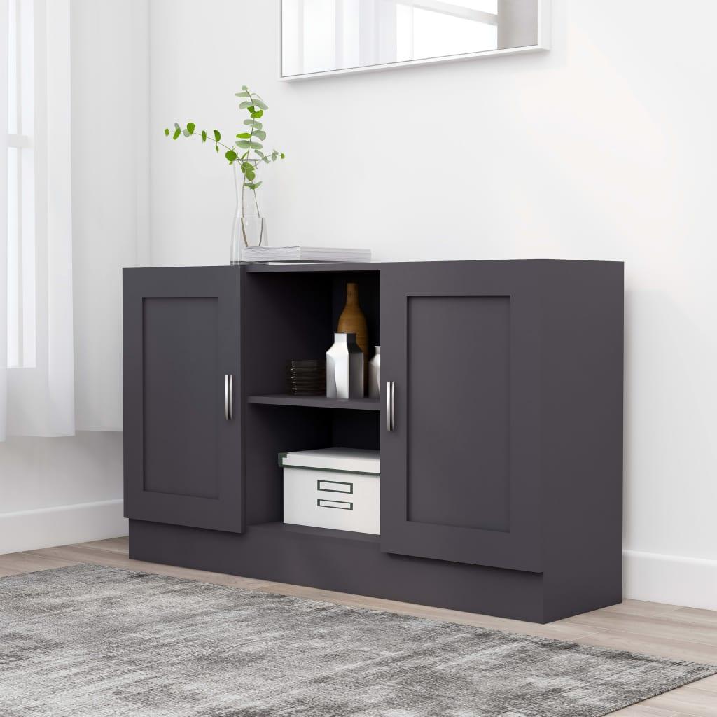Příborník šedý 120 x 30,5 x 70 cm dřevotříska