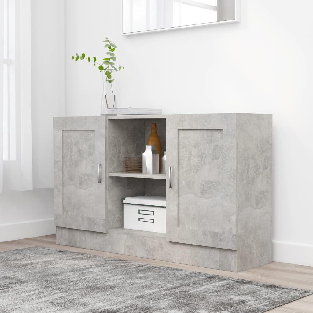 Příborník betonově šedý 120 x 30,5 x 70 cm dřevotříska