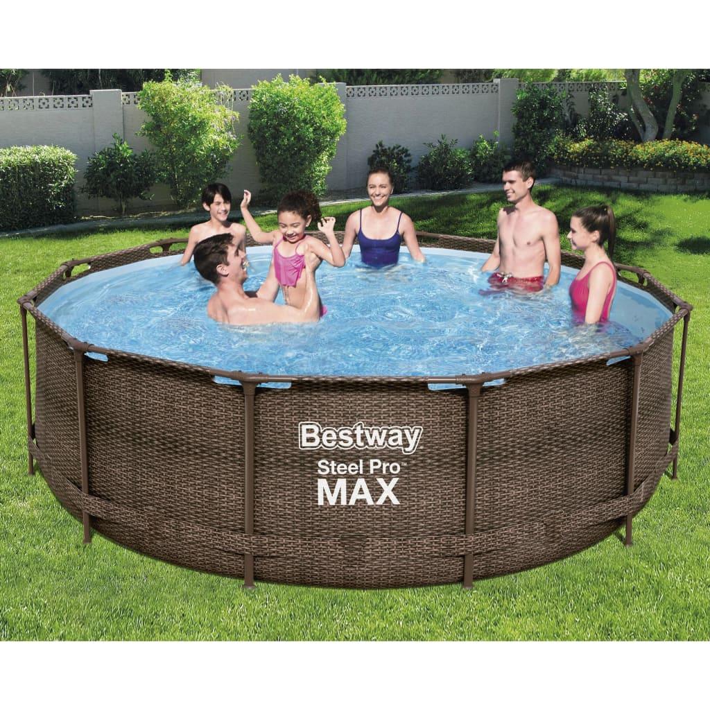 Bestway Bazénový set Steel Pro MAX Deluxe Series kruhový 366 x 100 cm