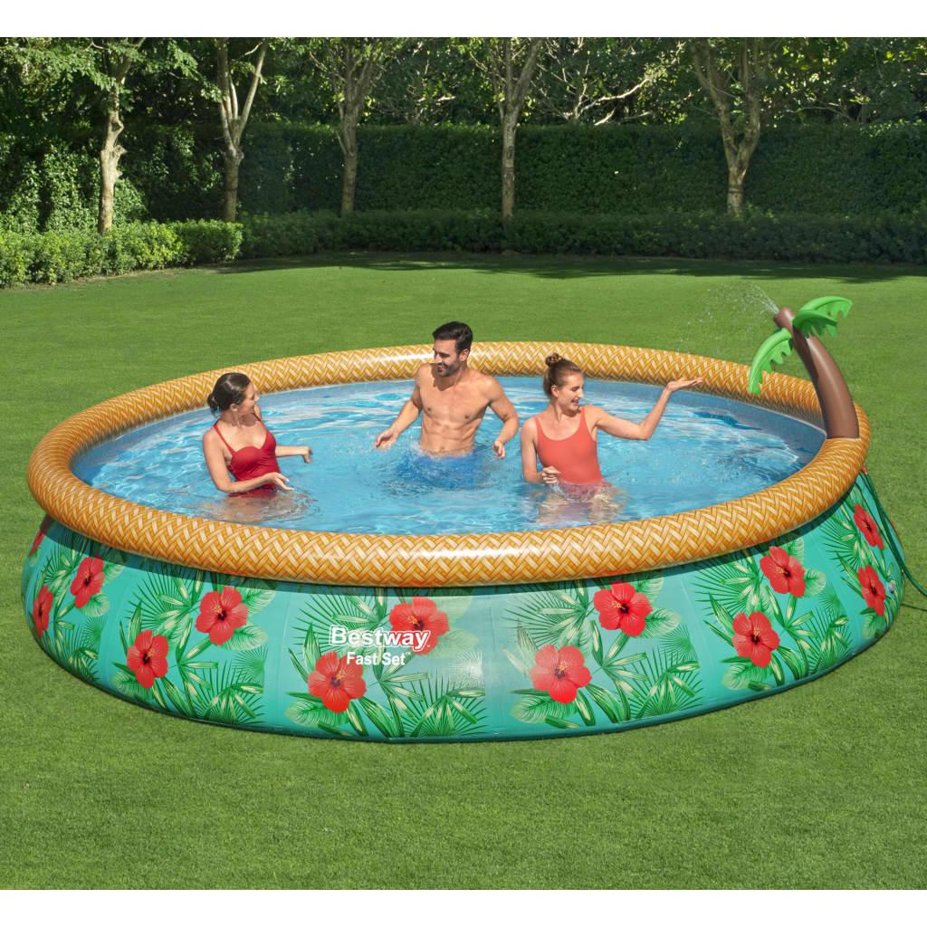 Bestway Fast Set Nafukovací bazénový set Paradise Palms 457 x 84 cm
