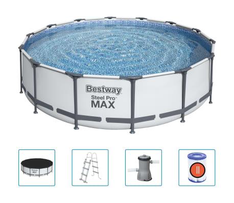 Bestway Basen Steel Pro MAX z akcesoriami, 427x107 cm