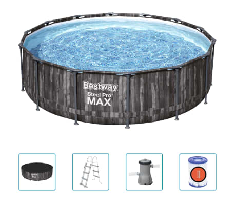 Bestway Steel Pro MAX Swimmingpool-Set Rund 427x107 cm