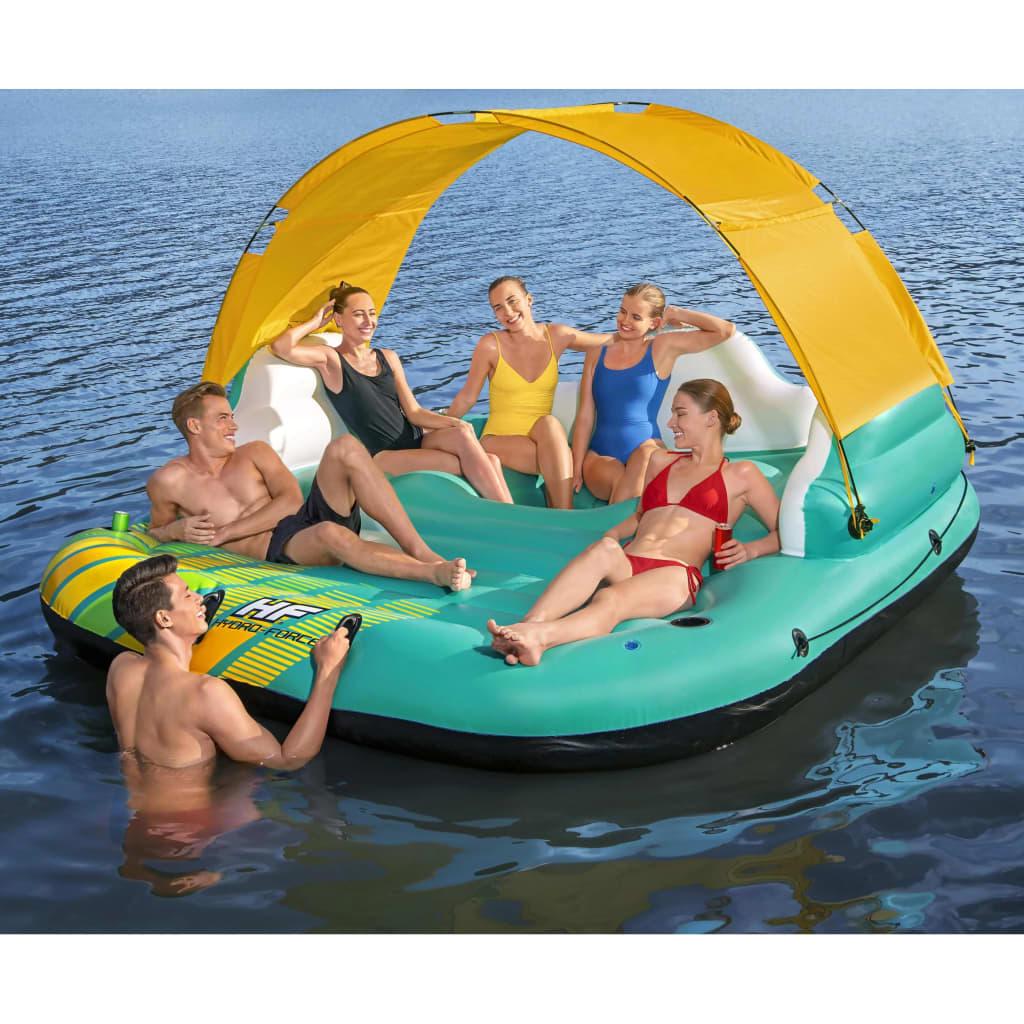 Bestway Sunny Lounge 5 személyes felfújható sziget 291 x 265 x 83 cm