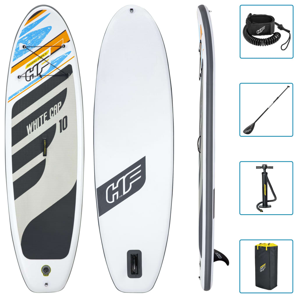 Bestway Hydro-Force White Cap szett felfújható állószörf 305x84x12 cm