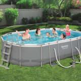 Bestway Power Steel Swimming Pool Set Oval 488x305x107 cm
