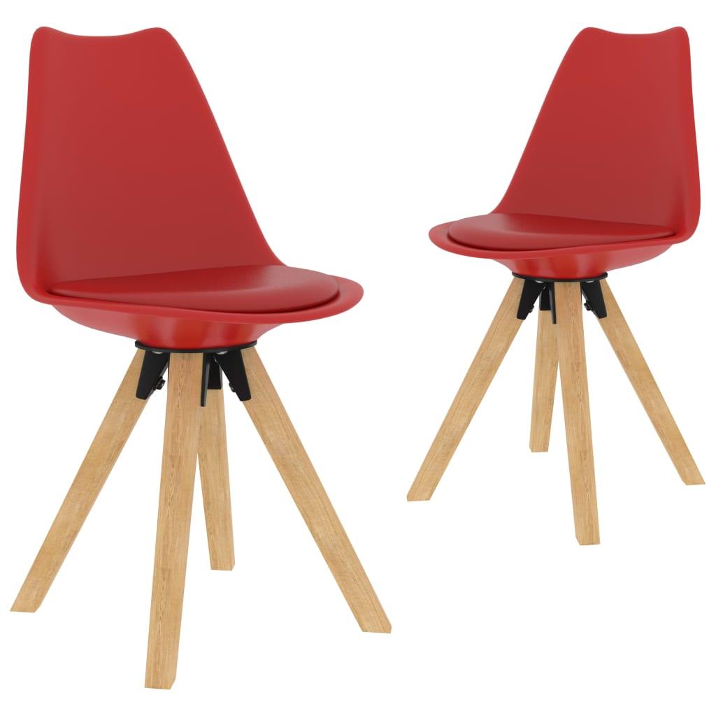 Jídelní židle 2 ks červené