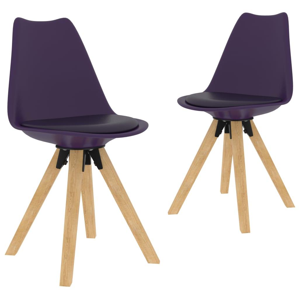vidaXL Krzesła stołowe, 2 szt., liliowe