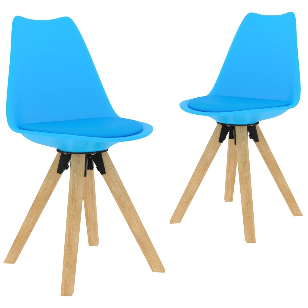 Jídelní židle 2 ks modré