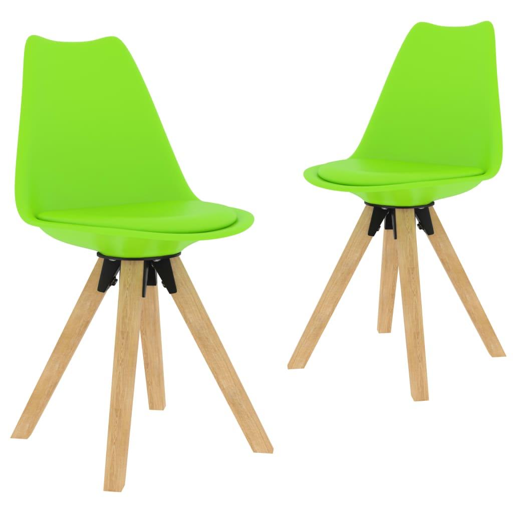 Jídelní židle 2 ks zelené