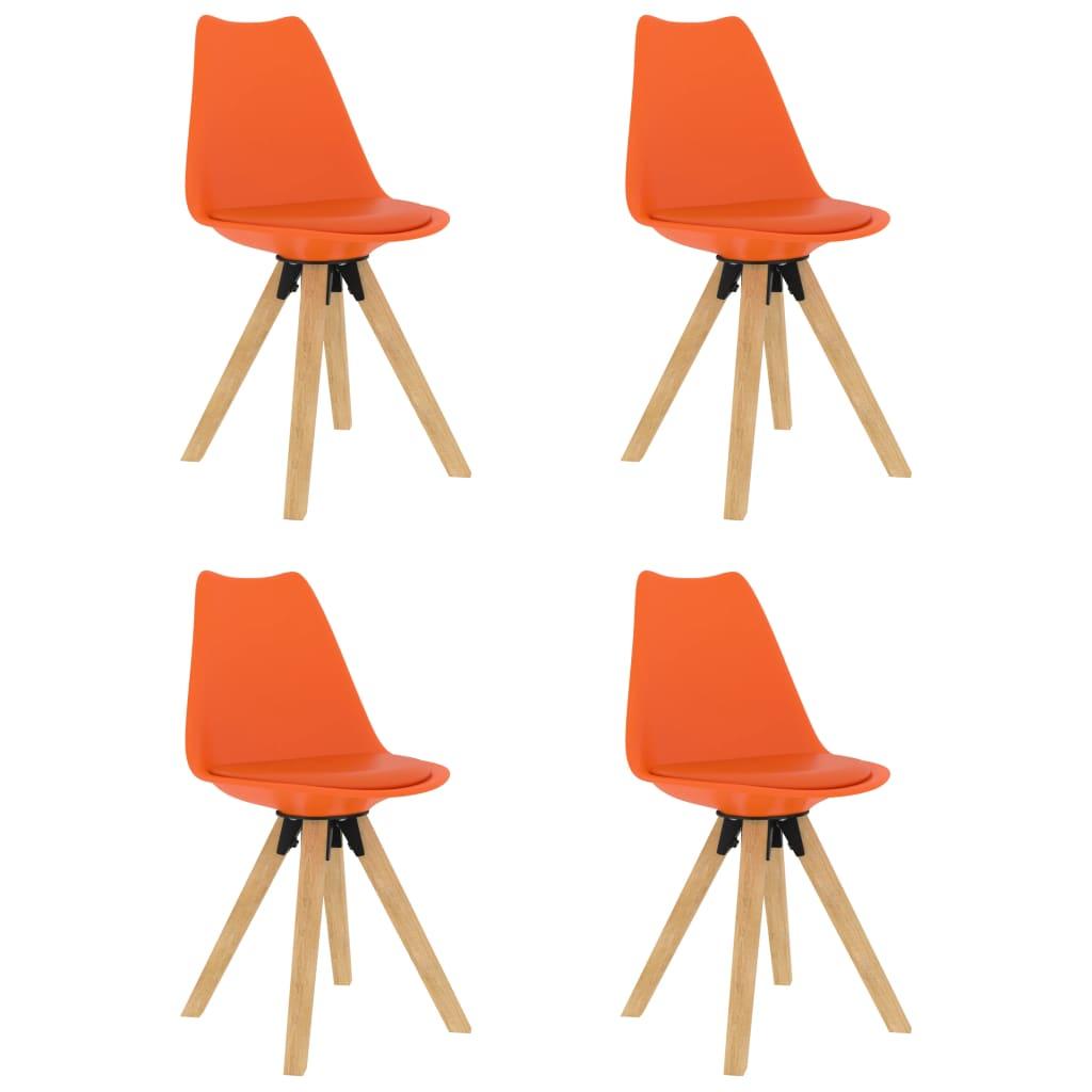 vidaXL spisebordsstole 4 stk. orange