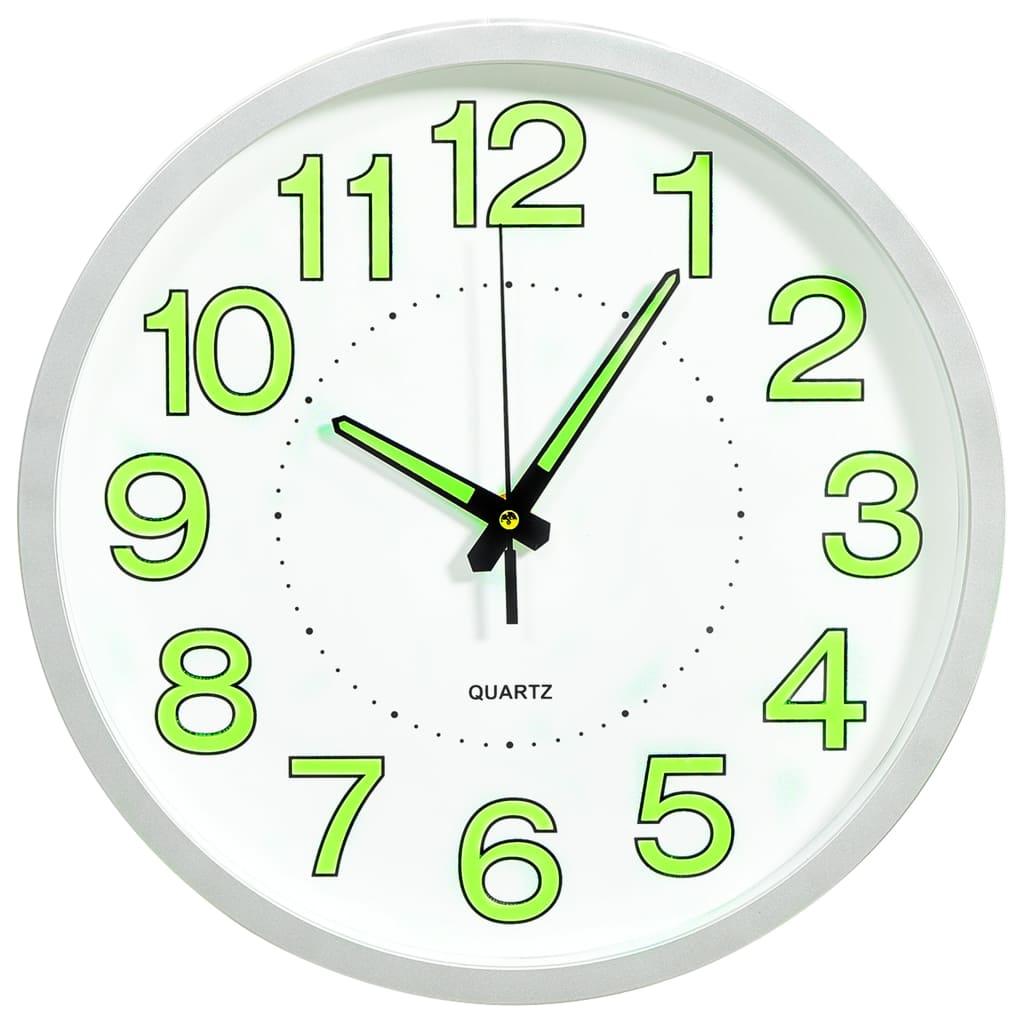 Svítící nástěnné hodiny bílé 30 cm